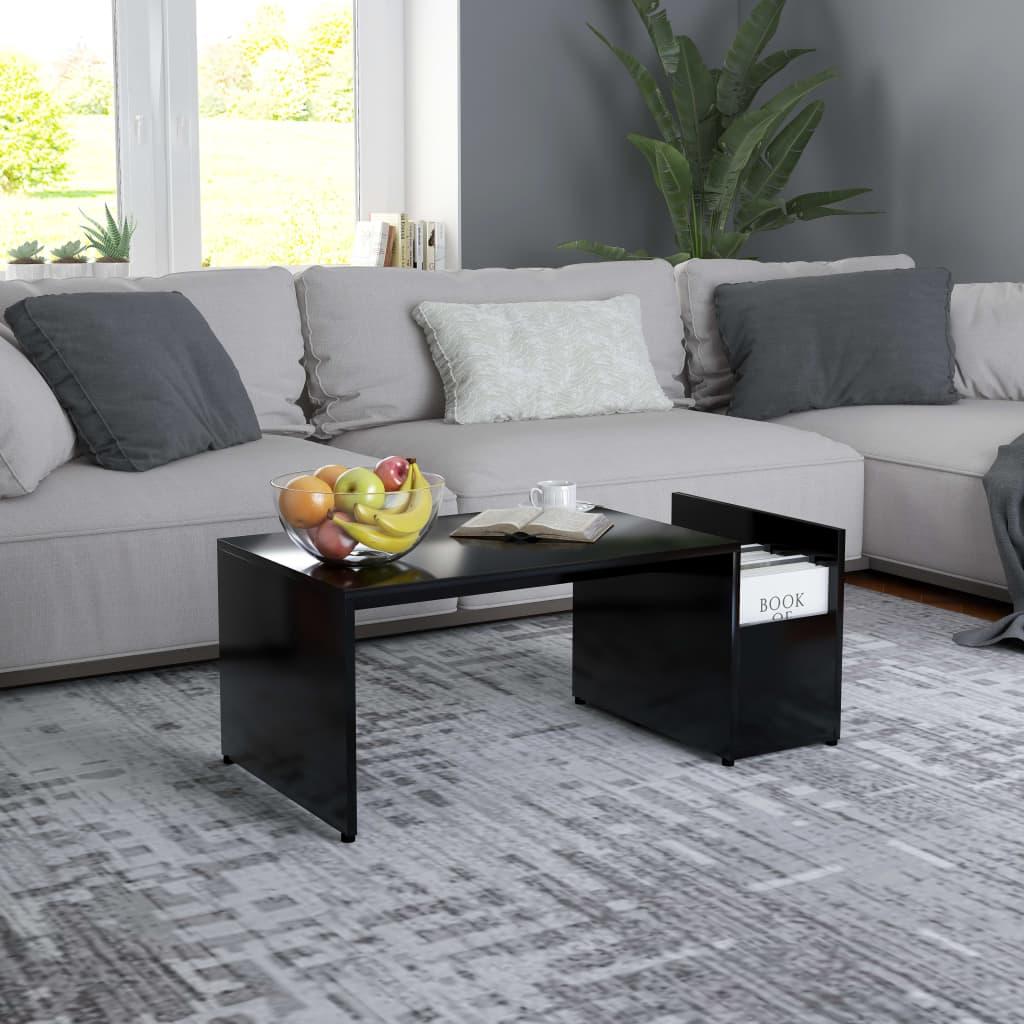 Konferenční stolek černý 90 x 45 x 35 cm dřevotříska