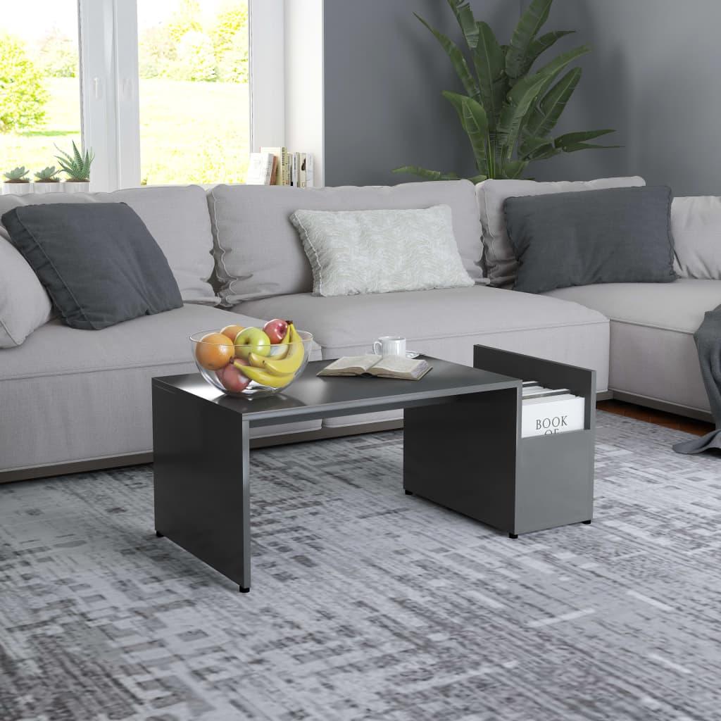 Konferenční stolek šedý 90 x 45 x 35 cm dřevotříska