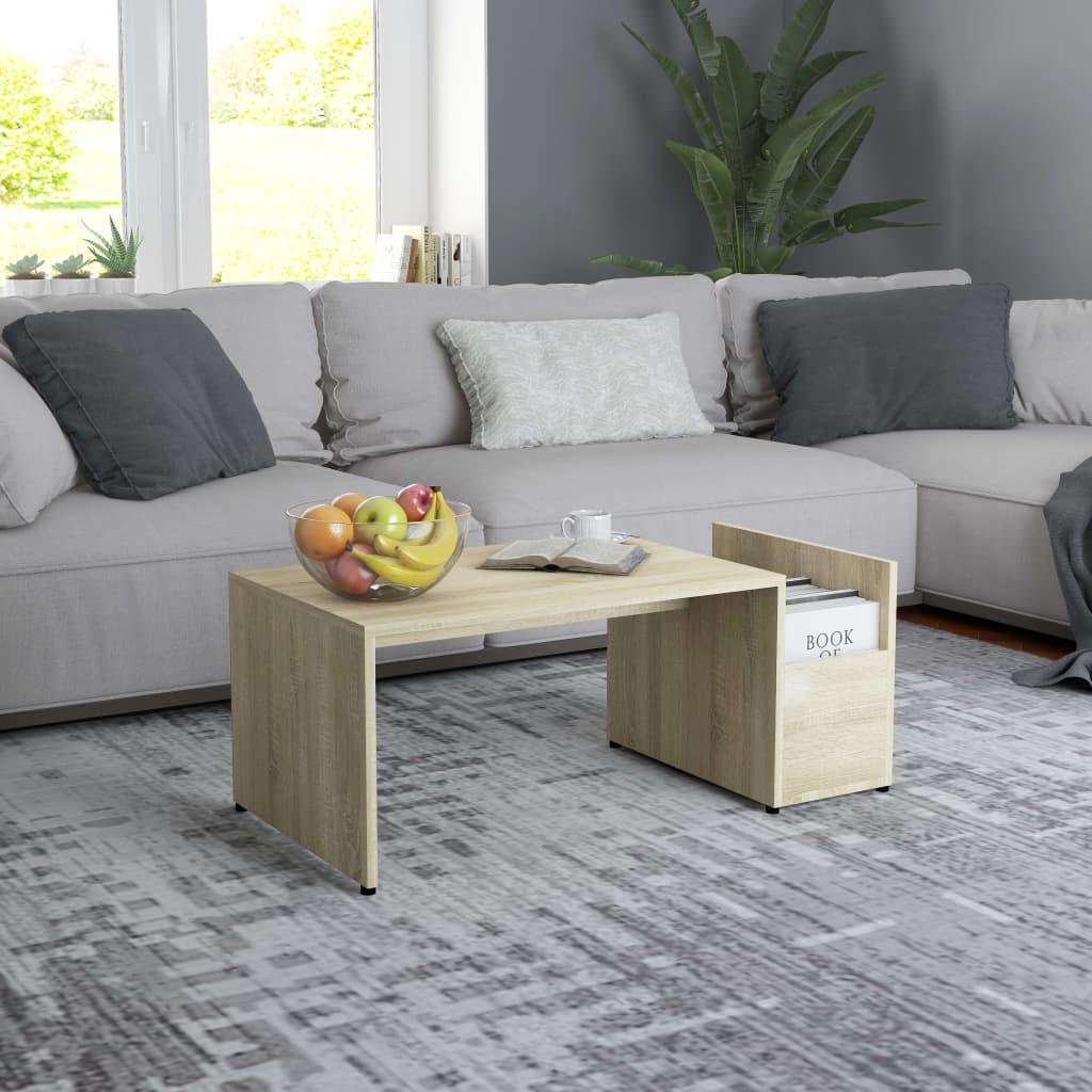 Konferenční stolek dub sonoma 90 x 45 x 35 cm dřevotříska