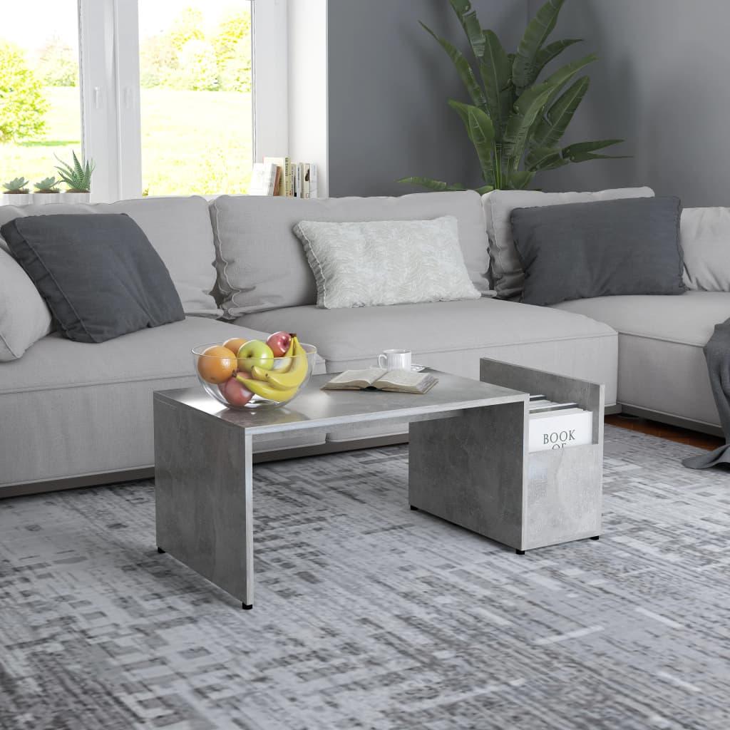 Konferenční stolek betonově šedý 90 x 45 x 35 cm dřevotříska