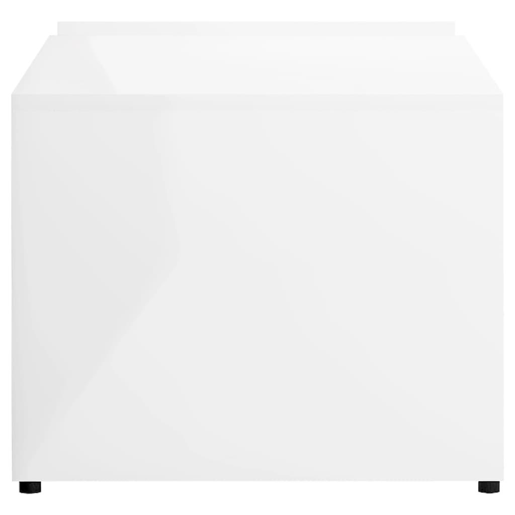 vidaXL Stolić za kavu visoki sjaj bijeli 90 x 45 x 35 cm od iverice