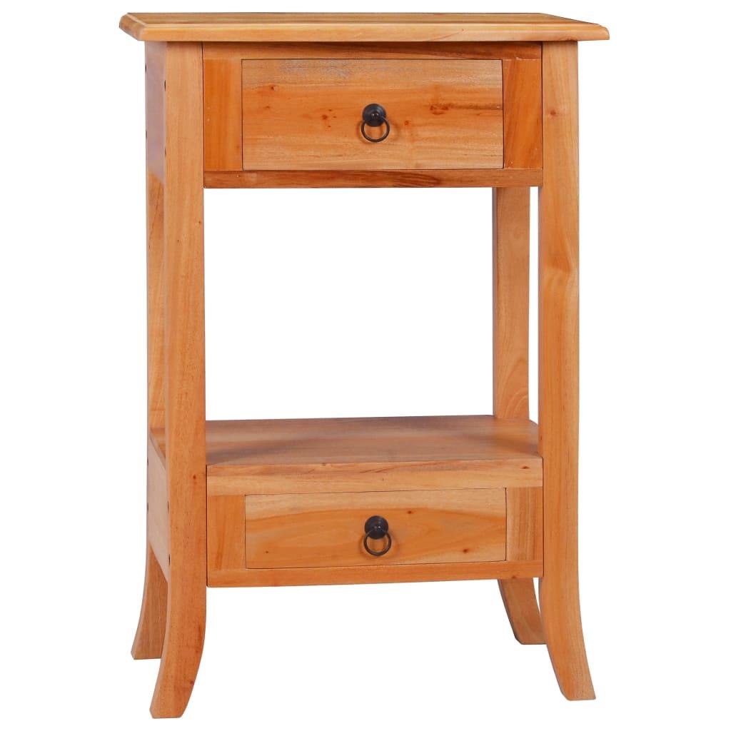 vidaXL Masă consolă, 50 x 30 x 75 cm, lemn masiv de mahon imagine vidaxl.ro