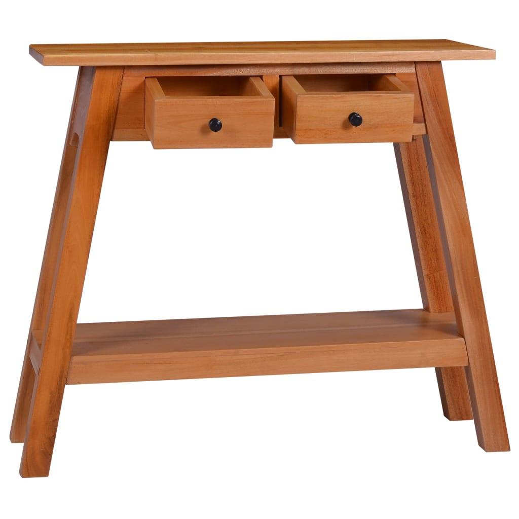 vidaXL Konzolni stol 90 x 30 x 75 cm od masivnog drva mahagonija