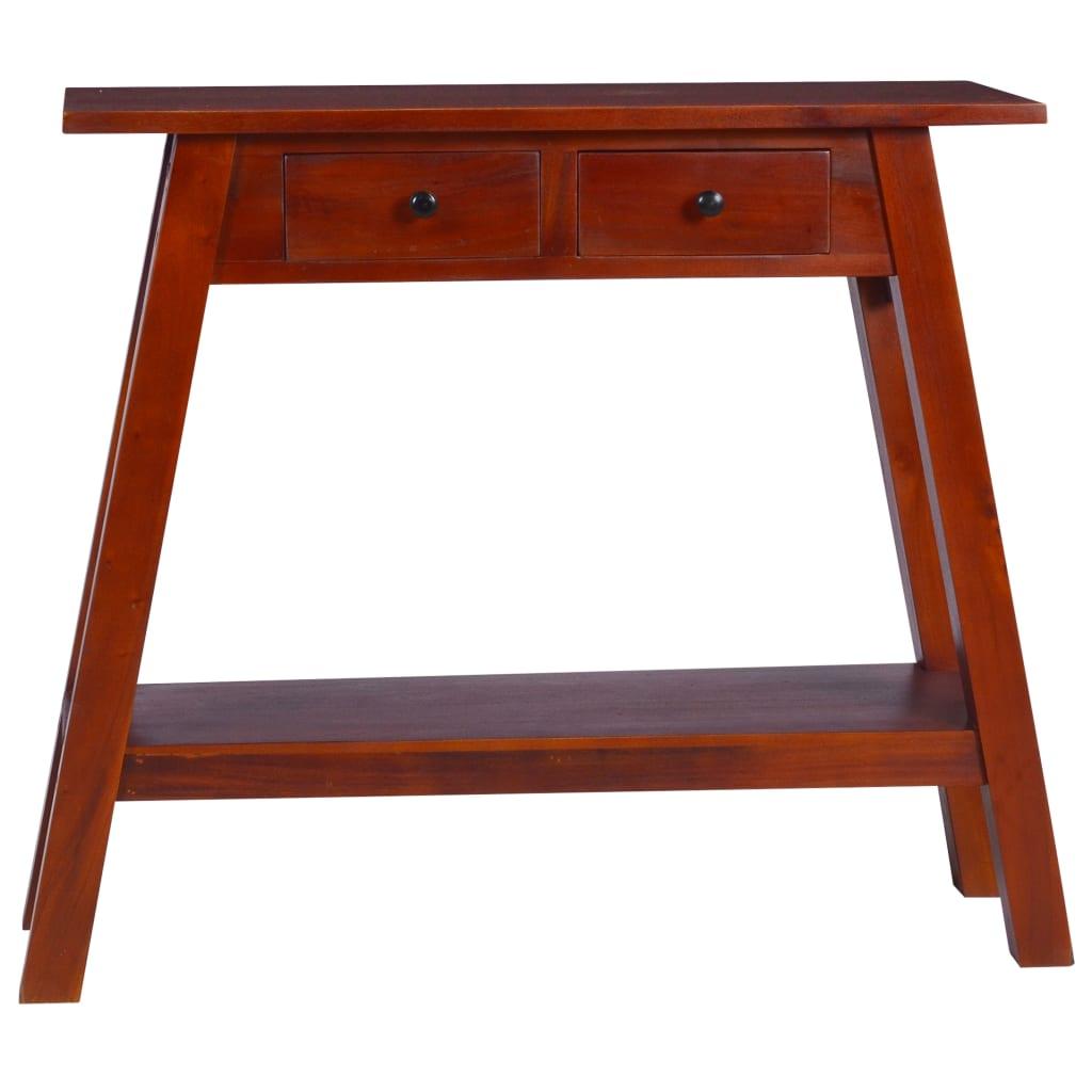 vidaXL Konzolni stol klasični smeđi 90x30x75cm masivno drvo mahagonija