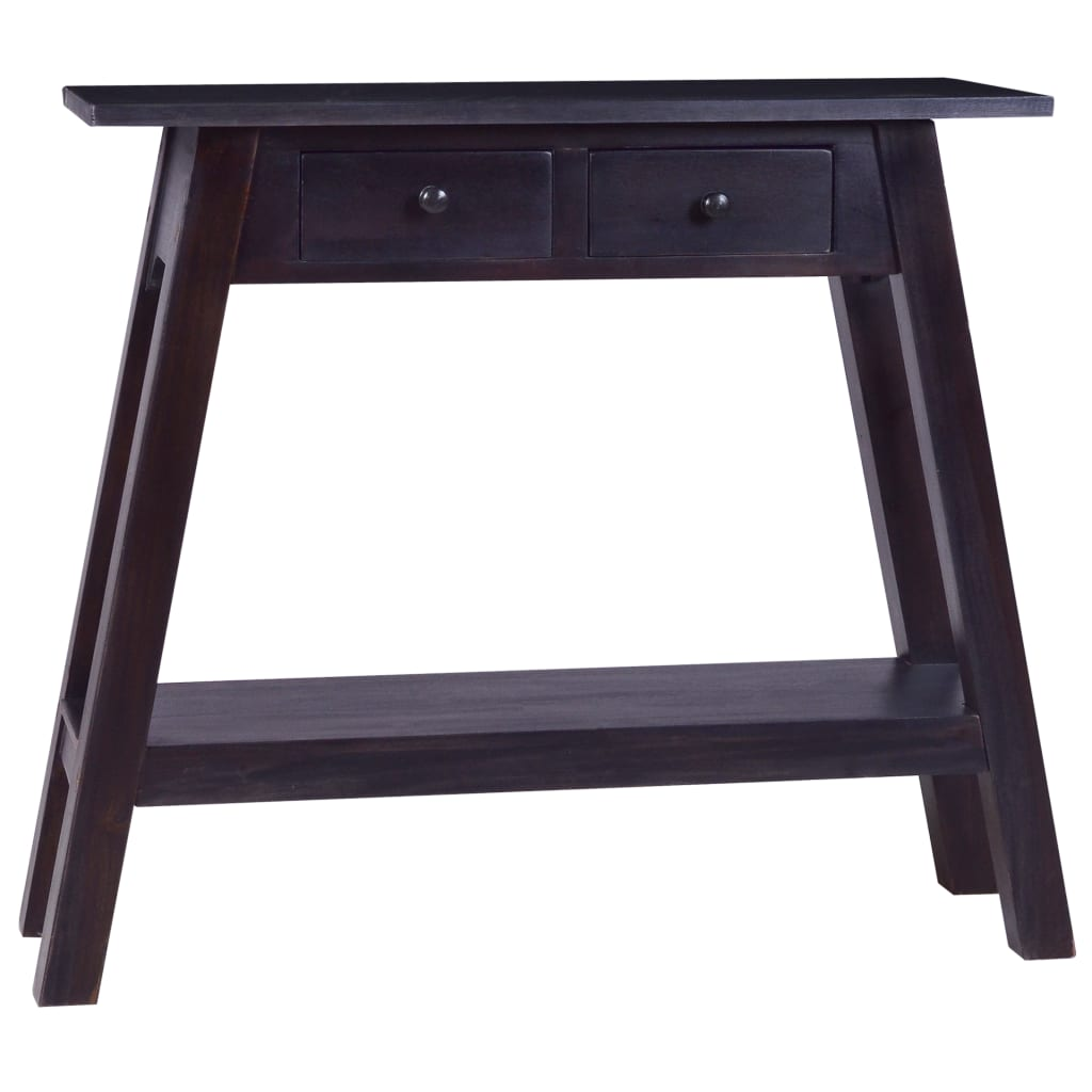 vidaXL Masă consolă, negru cafeniu, 90x30x75 cm, lemn masiv de mahon poza vidaxl.ro