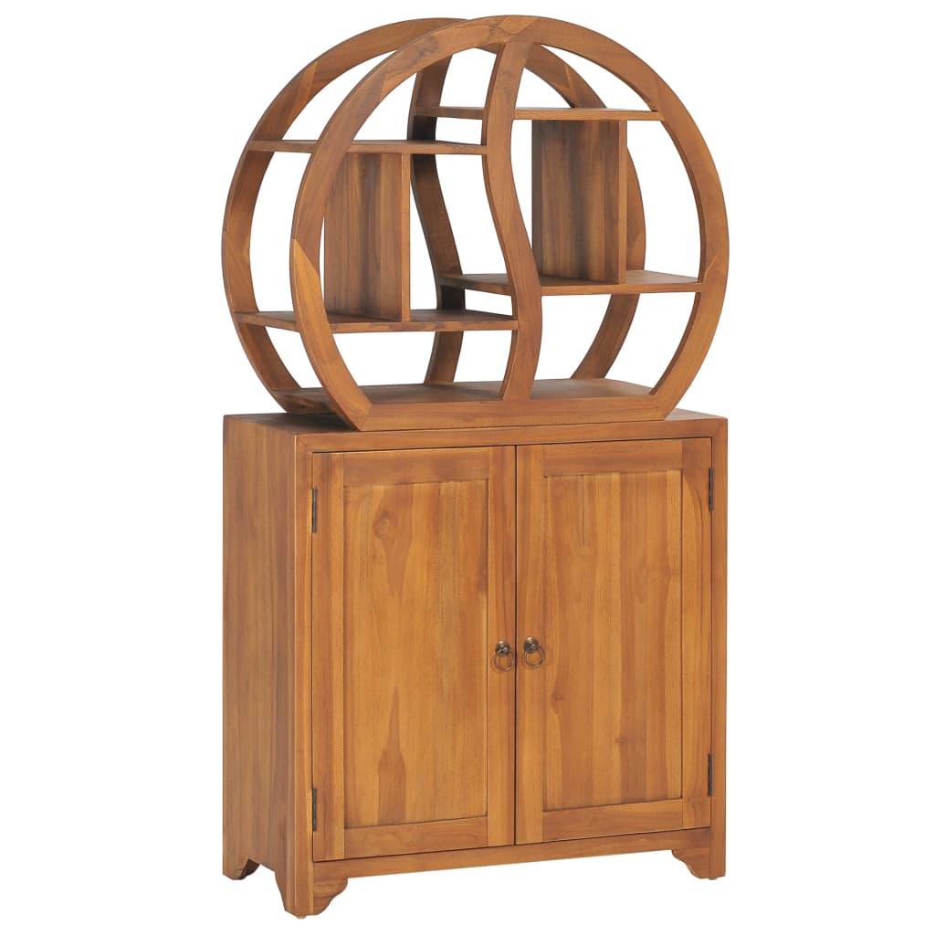 vidaXL Dulap cu raft Yin Yang, 70 x 30 x 130 cm, lemn masiv de tec vidaxl.ro