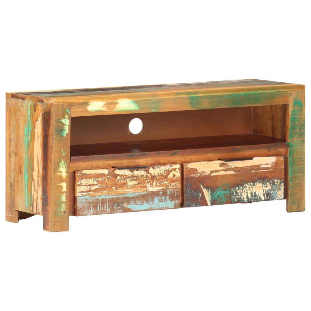 vidaXL Tv-meubel 90x30x40 cm massief gerecycled hout