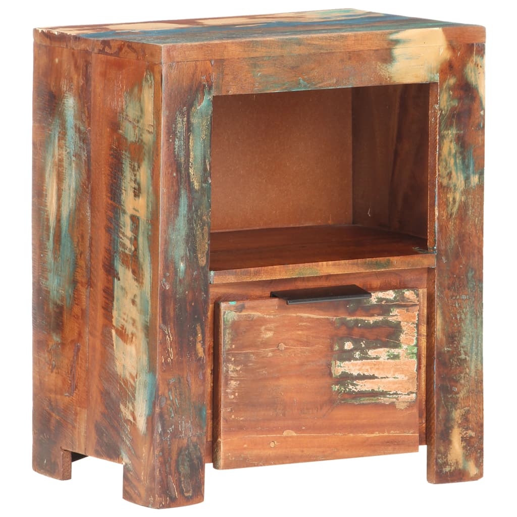 vidaXL Noptieră, 40 x 30 x 50 cm, lemn masiv reciclat poza vidaxl.ro