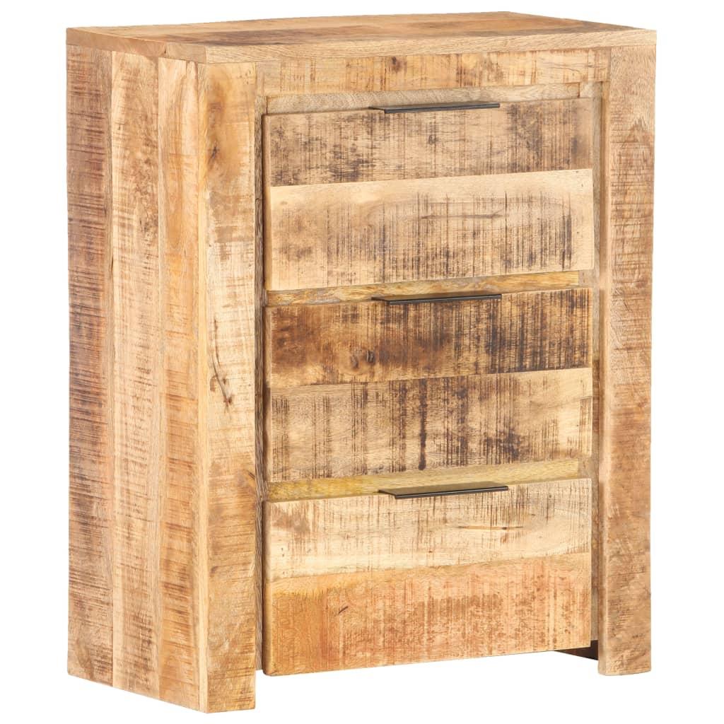 vidaXL Servantă, 59 x 33 x 75 cm, lemn de mango nefinisat poza vidaxl.ro