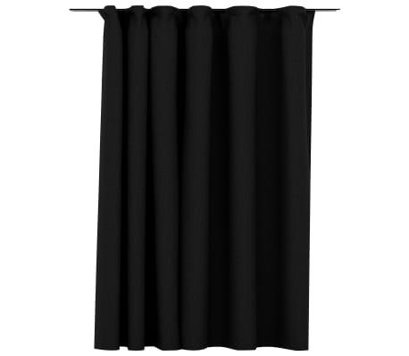 vidaXL Gordijn linnen-look verduisterend haken 290x245 cm antraciet