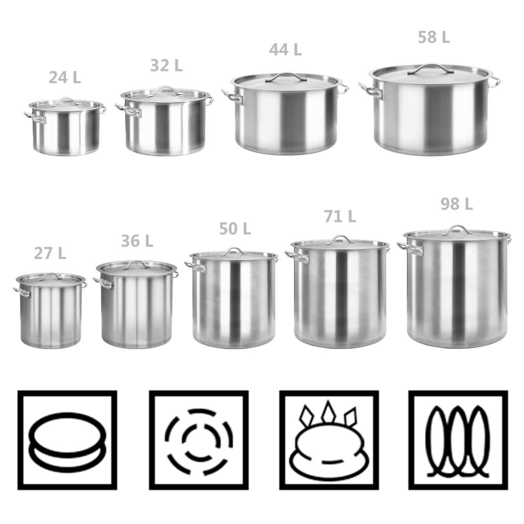 Hrnec na polévku 50 l 40 x 40 cm nerezová ocel