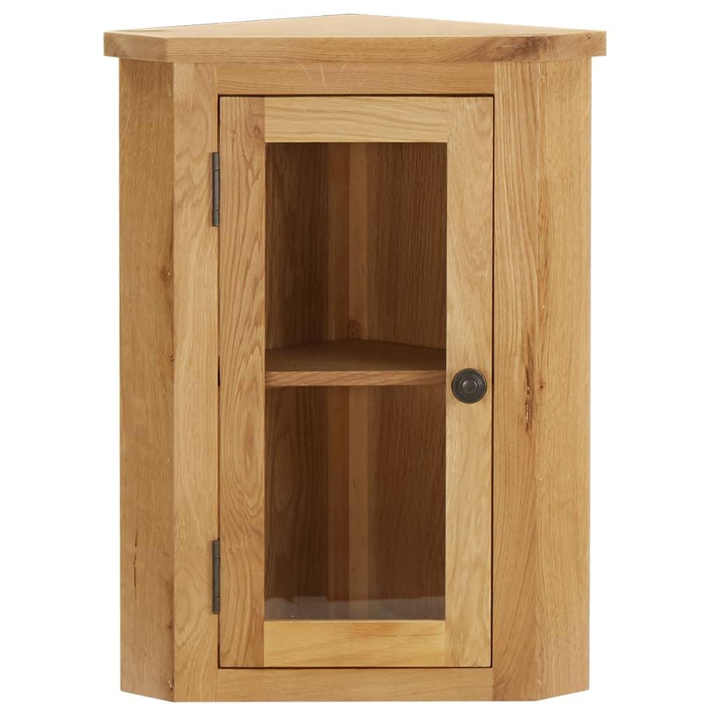 vidaXL Dulap de colț suspendat, 45x28x60 cm, lemn masiv de stejar vidaxl.ro
