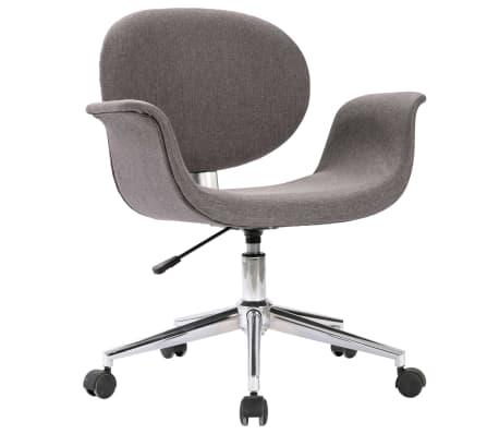 vidaXL Kantoorstoel draaibaar stof grijs