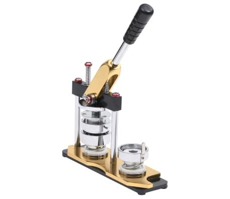vidaXL Badge Maker Machine with Circle Cutter Rotate Punch 58 mm