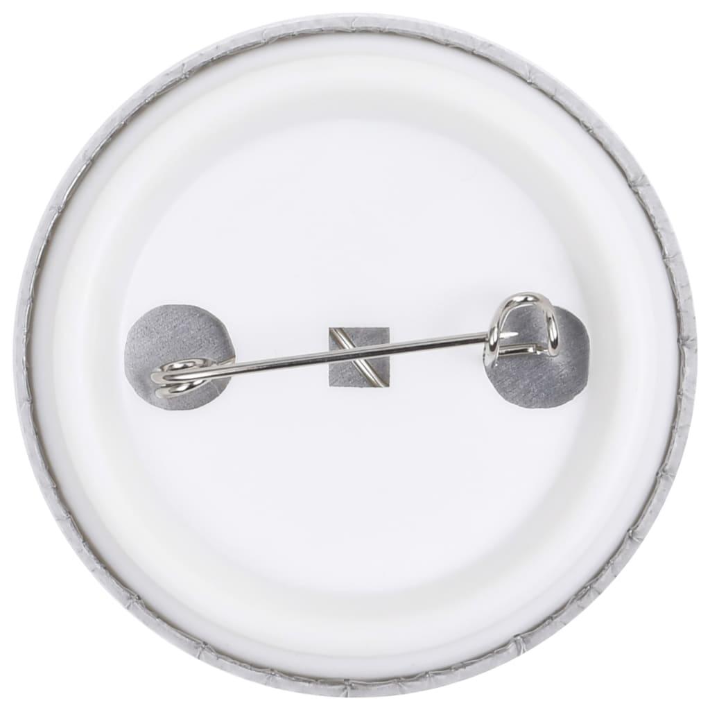 Prázdné placky se špendlíkem 500 setů 37 mm