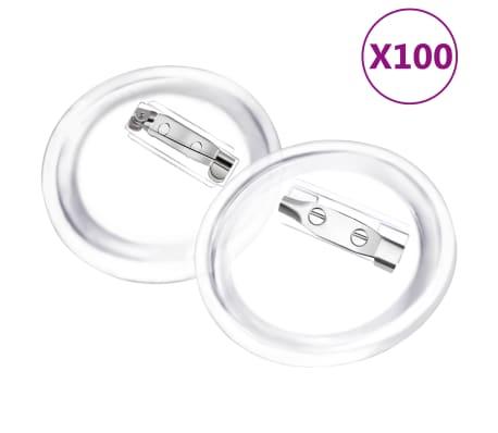 vidaXL Knappar med nålar 100 uppsättningar akryl 37 mm