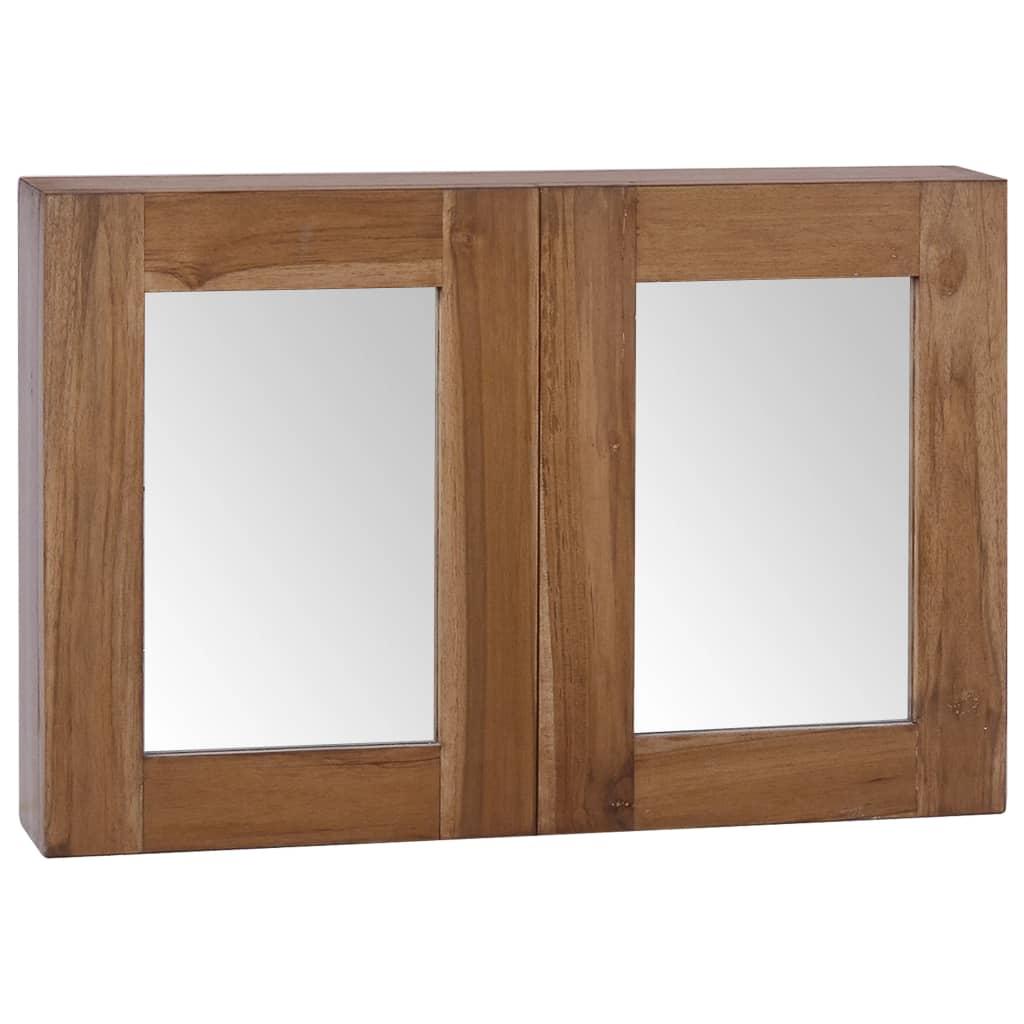 vidaXL Dulap cu oglindă, 60 x 10 x 40 cm, lemn masiv de tec imagine vidaxl.ro