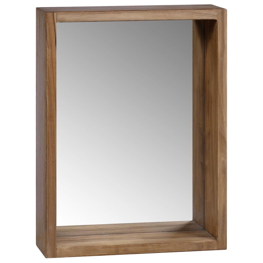 vidaXL Szafka z lustrem, 30x10x40 cm, lite drewno tekowe