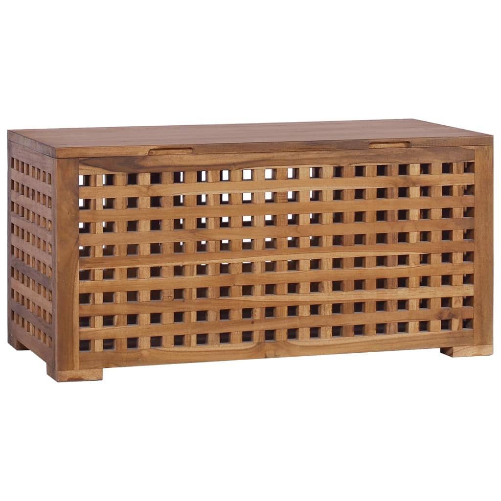 vidaXL Cutie de depozitare funie, 80 x 40 x 40 cm, lemn masiv de tec imagine vidaxl.ro