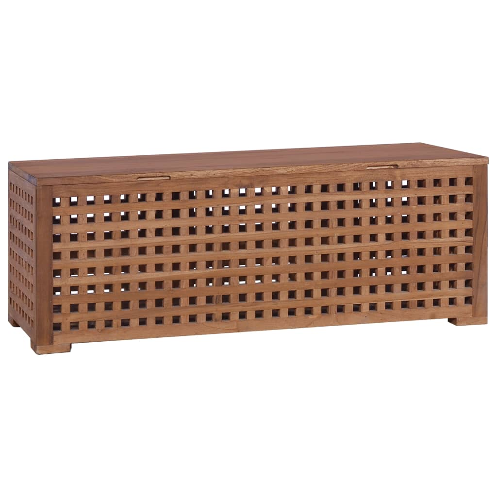 vidaXL Cutie de depozitare funie, 110 x 40 x 40 cm, lemn masiv de tec imagine vidaxl.ro
