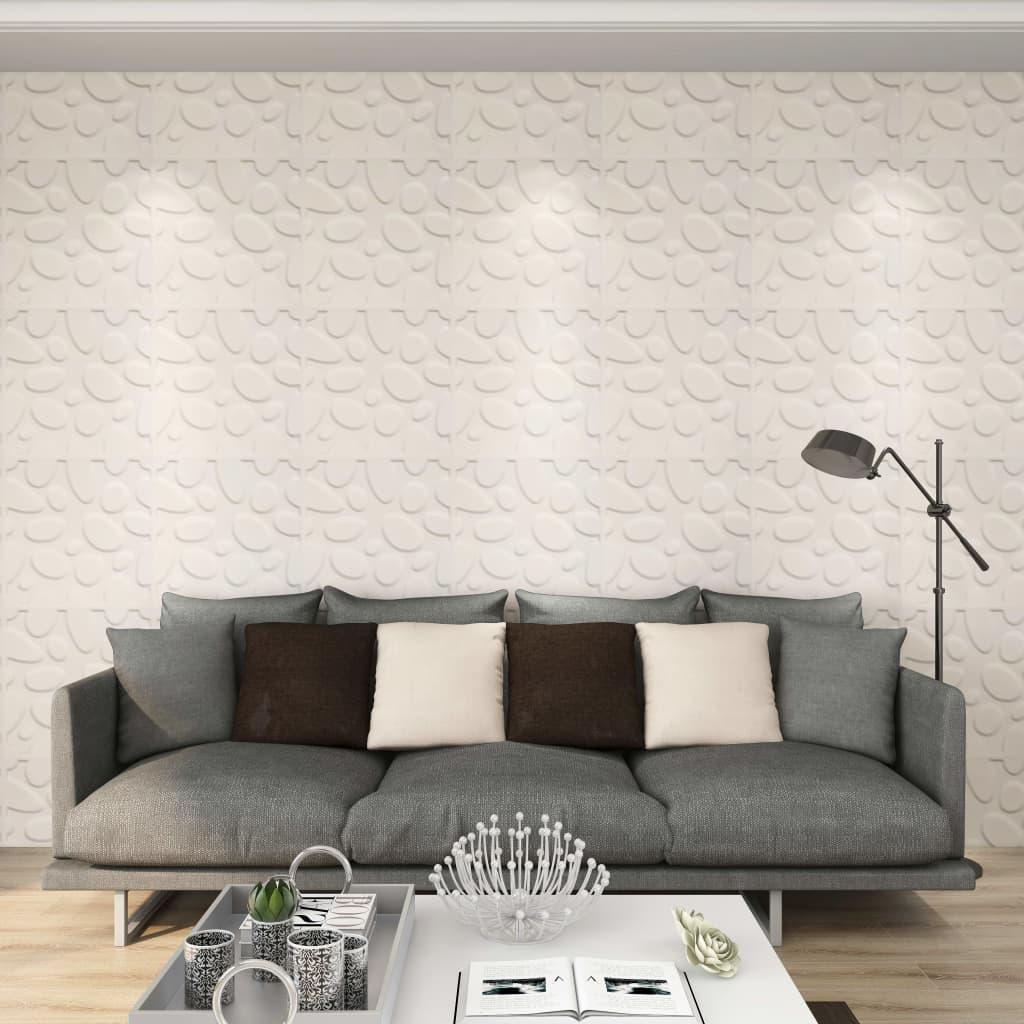 vidaXL Panouri de perete 3D, 12 buc., 0,5 x 0,5 m, 3 m² imagine vidaxl.ro