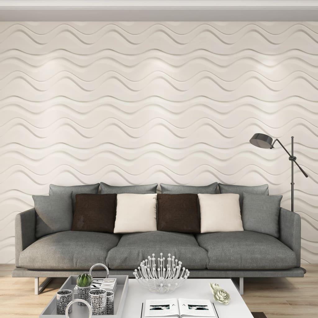 vidaXL Panou 3D de perete, 12 buc., 0,5 x 0,5 m, 3 m² imagine vidaxl.ro