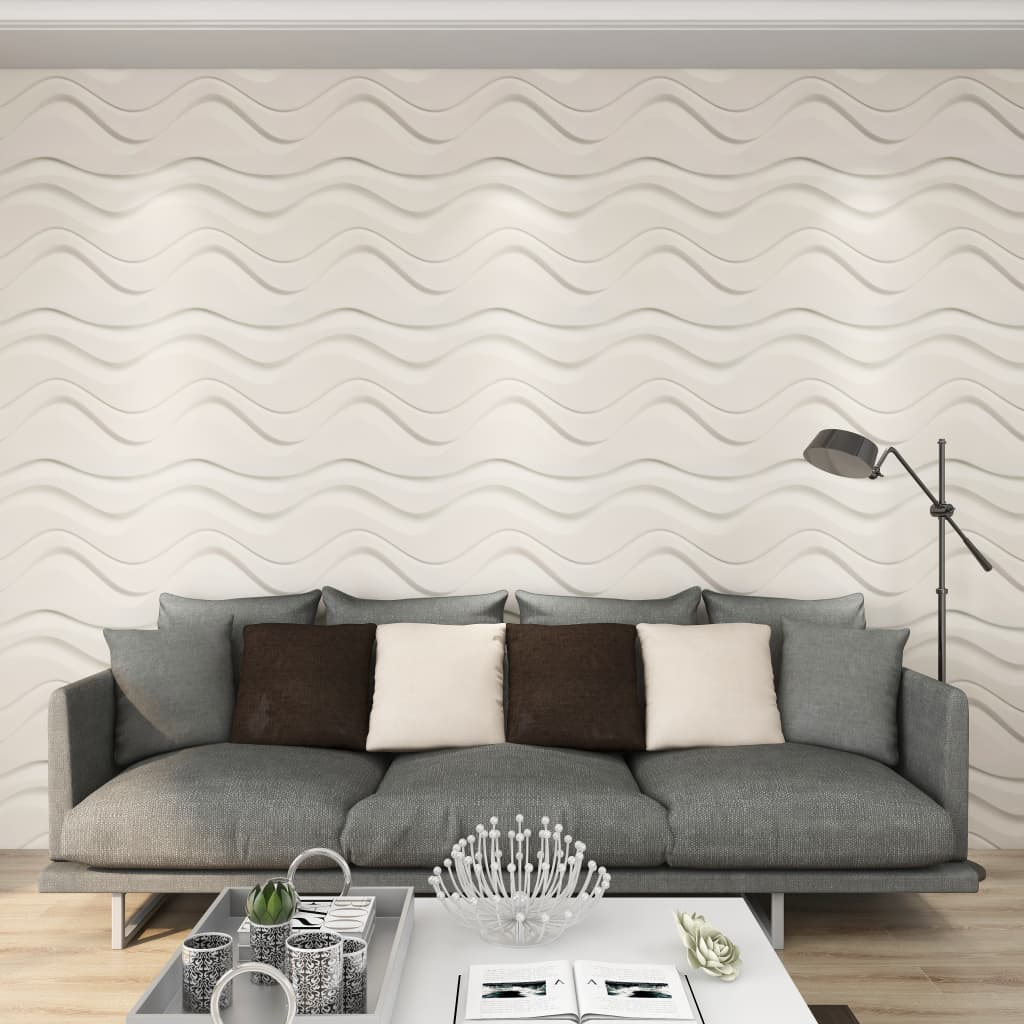 vidaXL Panouri de perete 3D, 24 buc., 0,5 x 0,5 m, 6 m² imagine vidaxl.ro