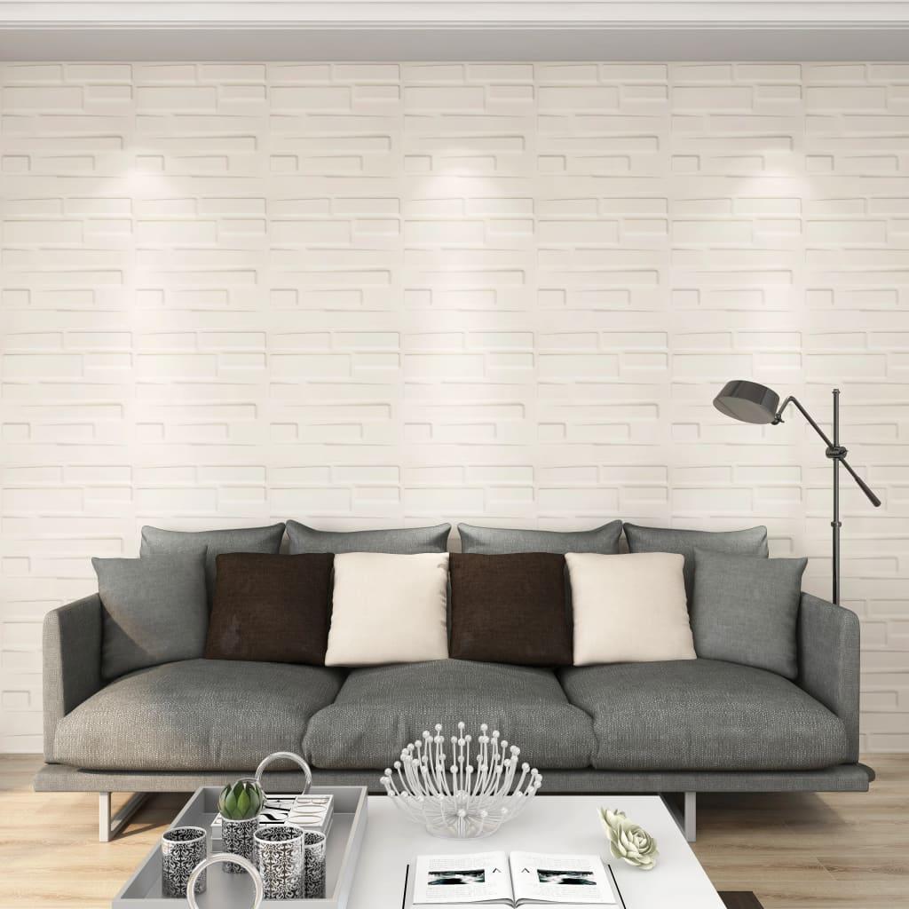 vidaXL Panouri de perete 3D, 12 buc., 0,5 x 0,5 m, 3 m² vidaxl.ro