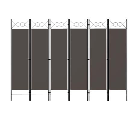 vidaXL Paravan de cameră cu 6 panouri, antracit, 240 x 180 cm