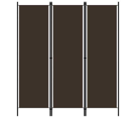 vidaXL Paravan de cameră cu 3 panouri, maro, 150 x 180 cm