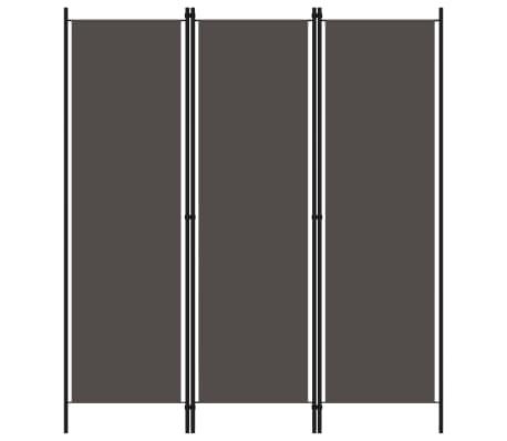 vidaXL Paravan de cameră cu 3 panouri, antracit, 150 x 180 cm