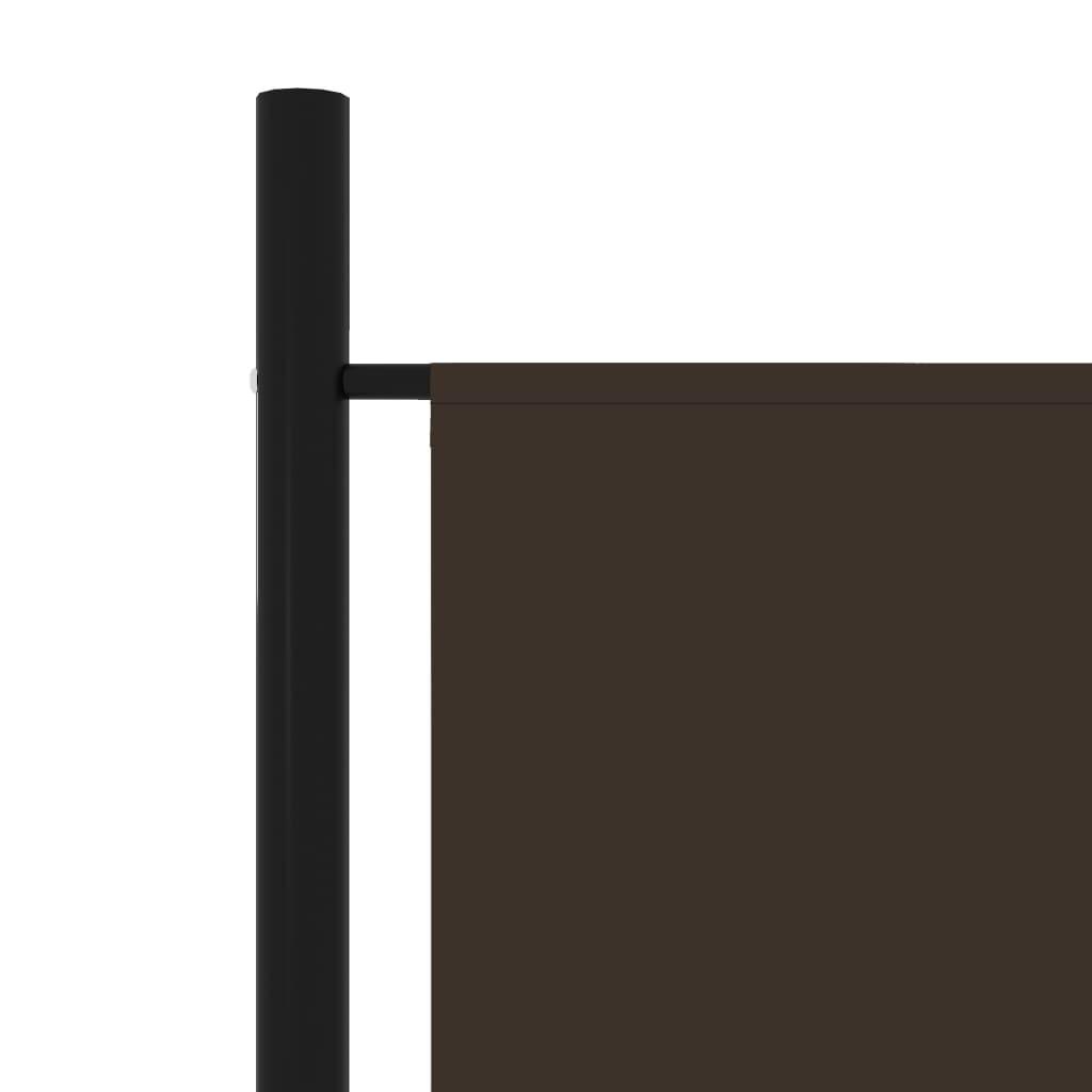vidaXL Kamerscherm met 5 panelen 250x180 cm bruin