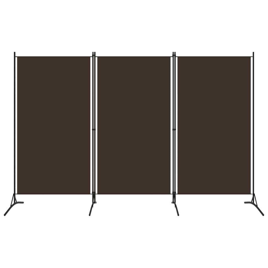 3dílný paraván hnědý 260 x 180 cm