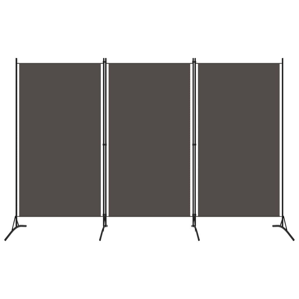 3dílný paraván antracitový 260 x 180 cm