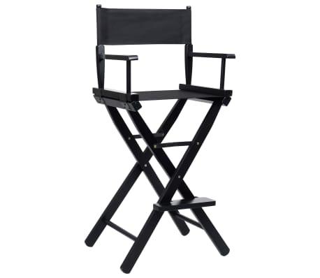 vidaXL Folding Director's Chair Black Oxford Fabric