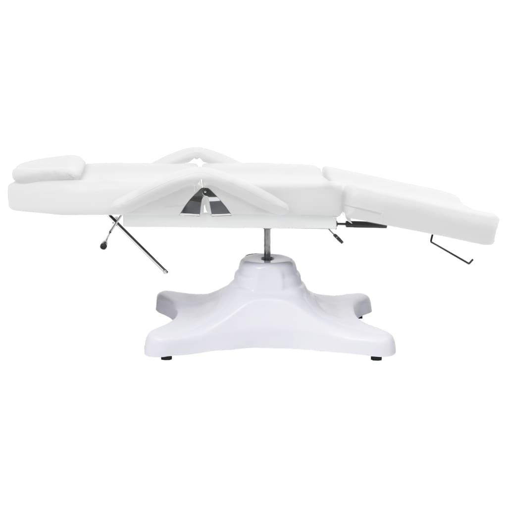 vidaXL Masažni stol bijeli 180 x 62 x (86,5 - 118) cm