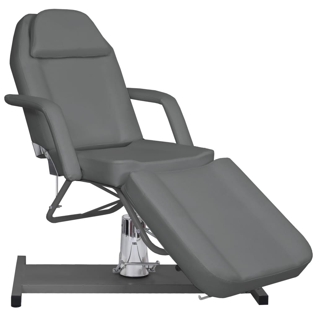 vidaXL Masă de masaj, gri, 180 x 62 x (87-112) cm vidaxl.ro