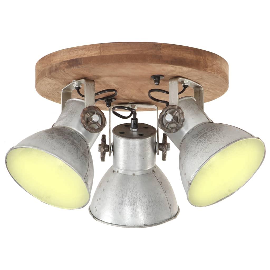 vidaXL Lampă de tavan industrială, argintiu, 25 W, 42 x 27 cm, E27 poza 2021 vidaXL