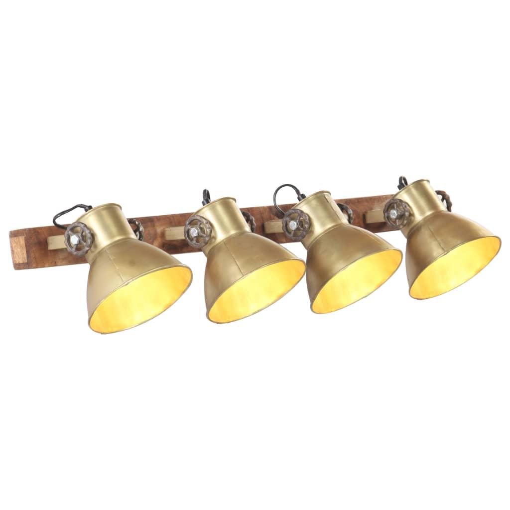 vidaXL Lampă de perete industrială, arămiu, 90 x 25 cm, E27 poza vidaxl.ro