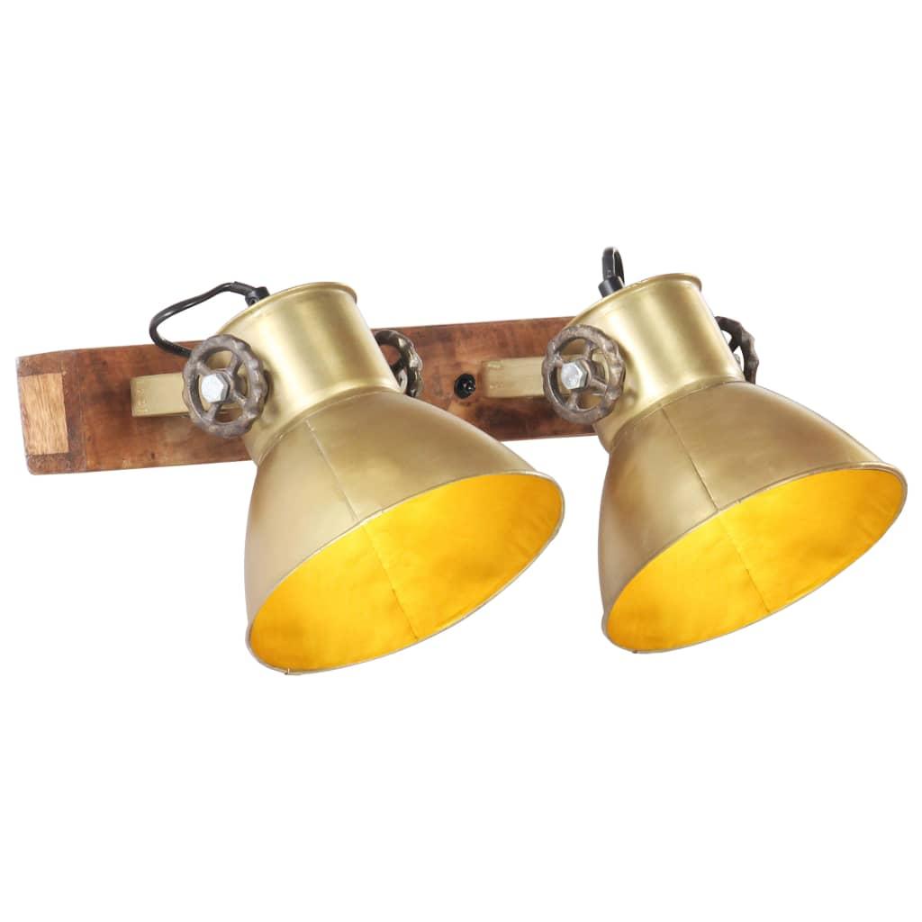 vidaXL Industrialna lampa ścienna, mosiądz, 45x25 cm, E27