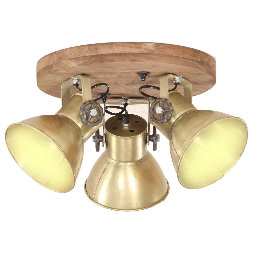 vidaXL Lampă de tavan industrială, arămiu, 25 W, 42 x 27 cm, E27 poza vidaxl.ro