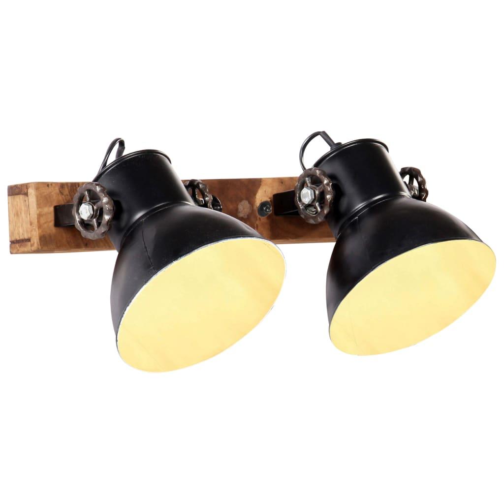 vidaXL Lampă de perete industrială, negru, 45 x 25 cm, E27 poza vidaxl.ro