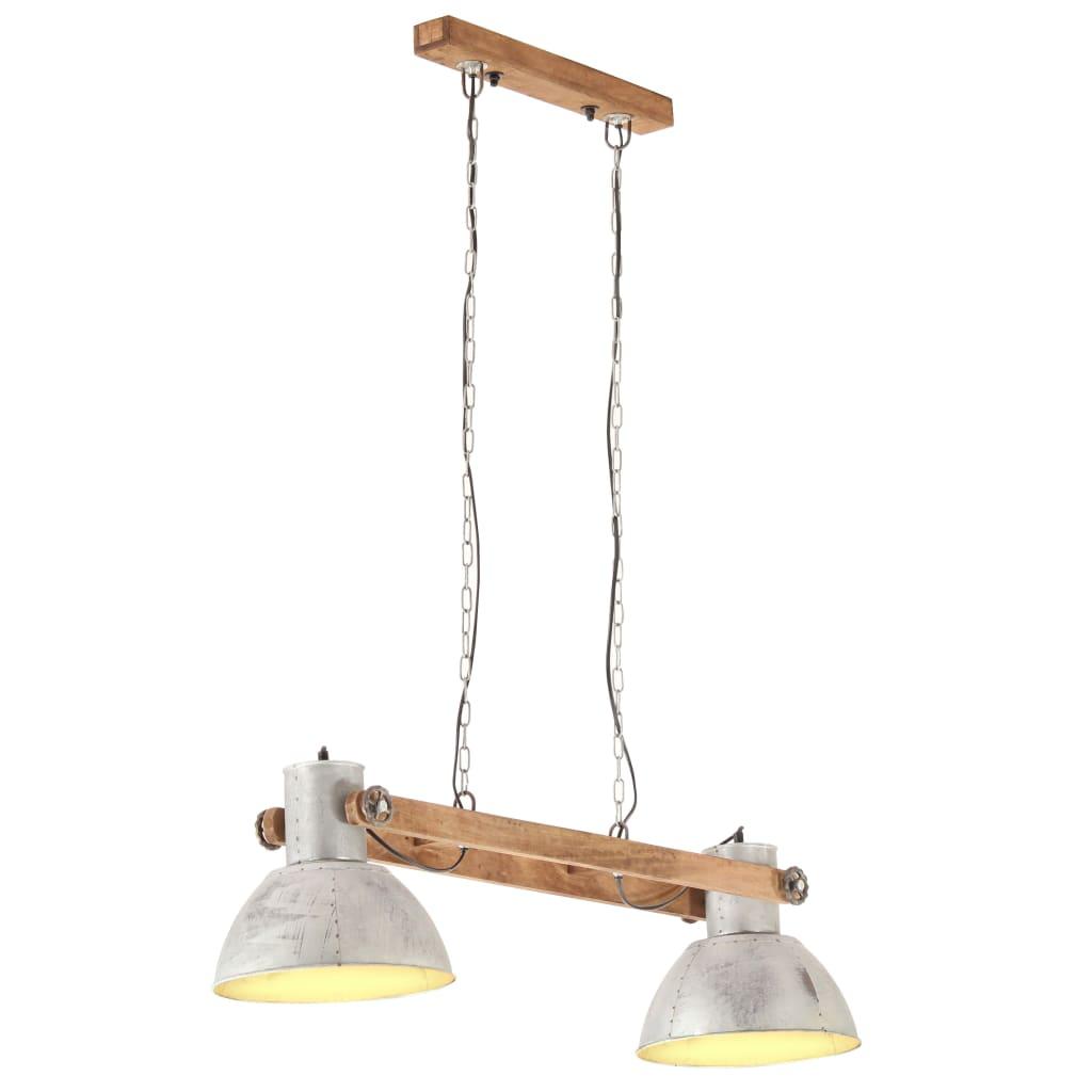 vidaXL Hanglamp industrieel 25 W E27 109 cm zilverkleurig