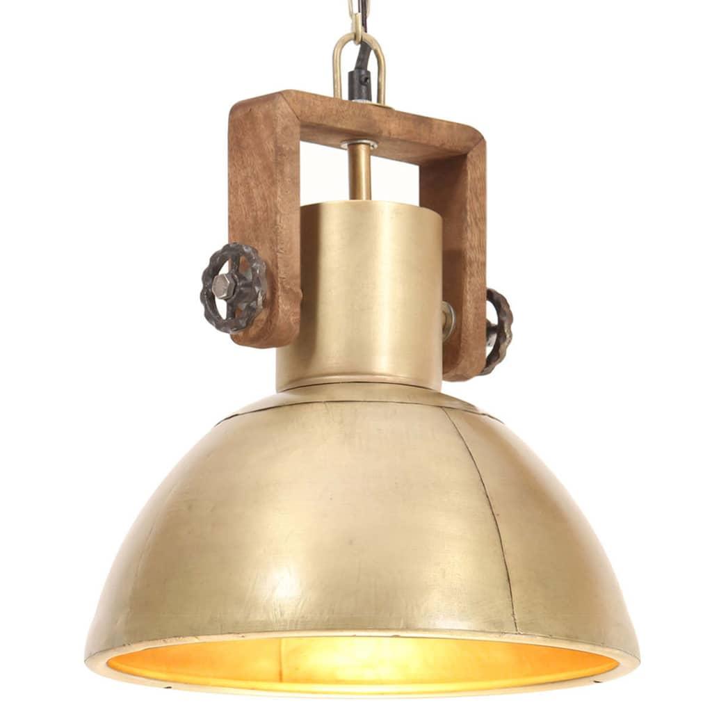 vidaXL Lampă suspendată industrială, 25 W, arămiu, 30 cm, E27, rotund poza vidaxl.ro