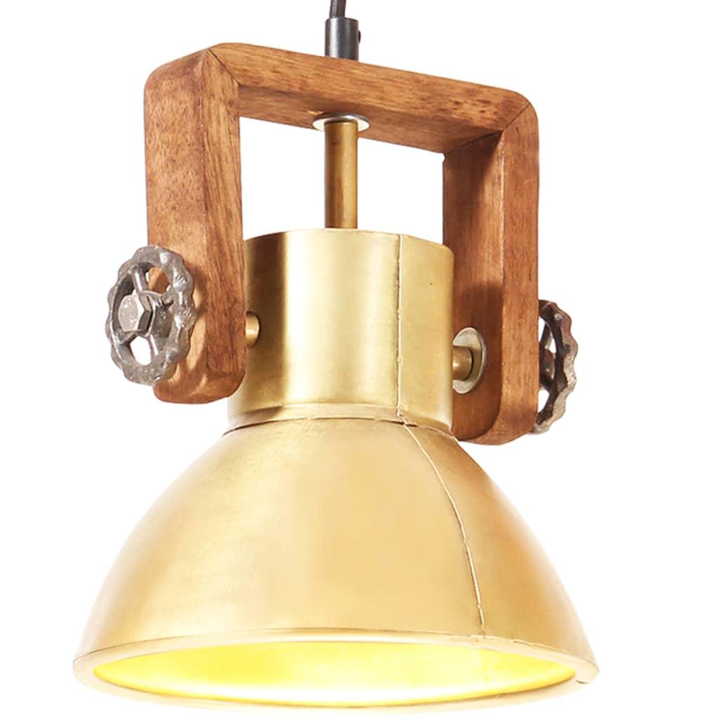 vidaXL Industrialna lampa wisząca, 25 W, mosiężna, okrągła, 19 cm, E27