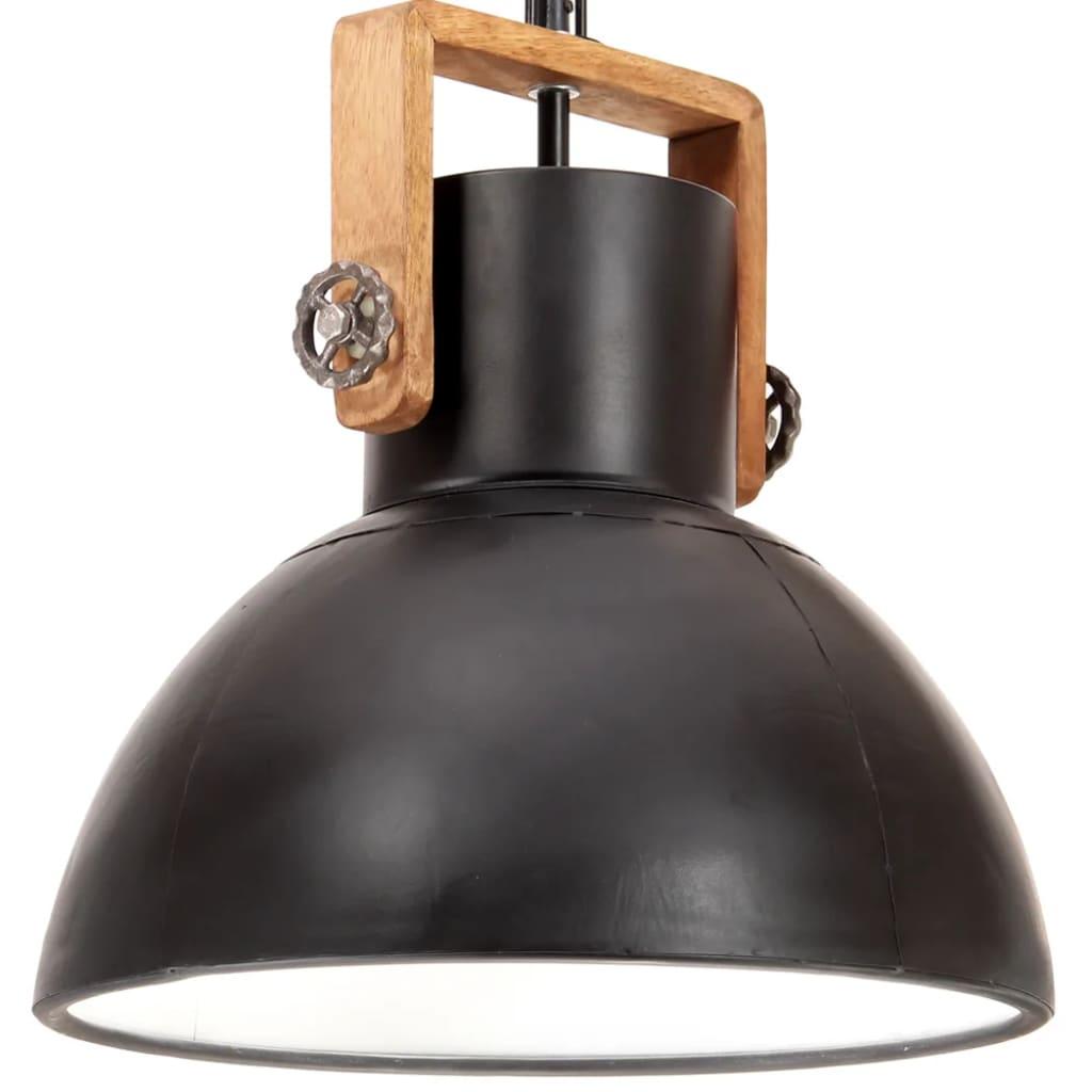 vidaXL Lampă suspendată industrială, 25 W, negru, rotund, 40 cm, E27 vidaxl.ro