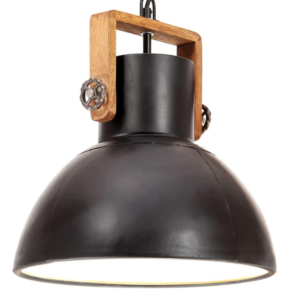 vidaXL Lampă suspendată industrială, 25 W, negru, 30 cm, E27, rotund poza vidaxl.ro