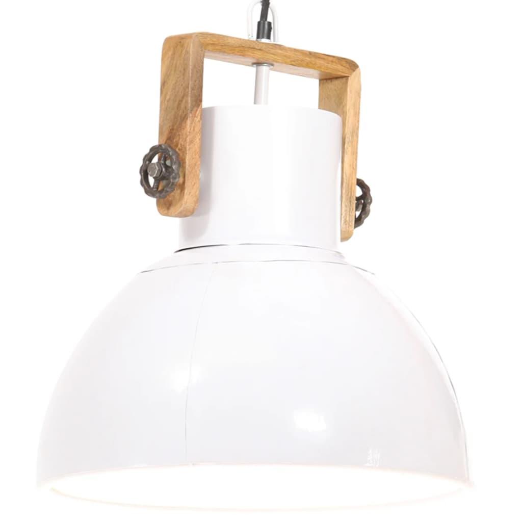 vidaXL Lampă suspendată industrială, 25 W, alb, 40 cm, E27, rotund vidaxl.ro