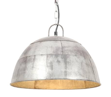 vidaXL Hanglamp industrieel vintage rond 25 W E27 41 cm zilverkleurig