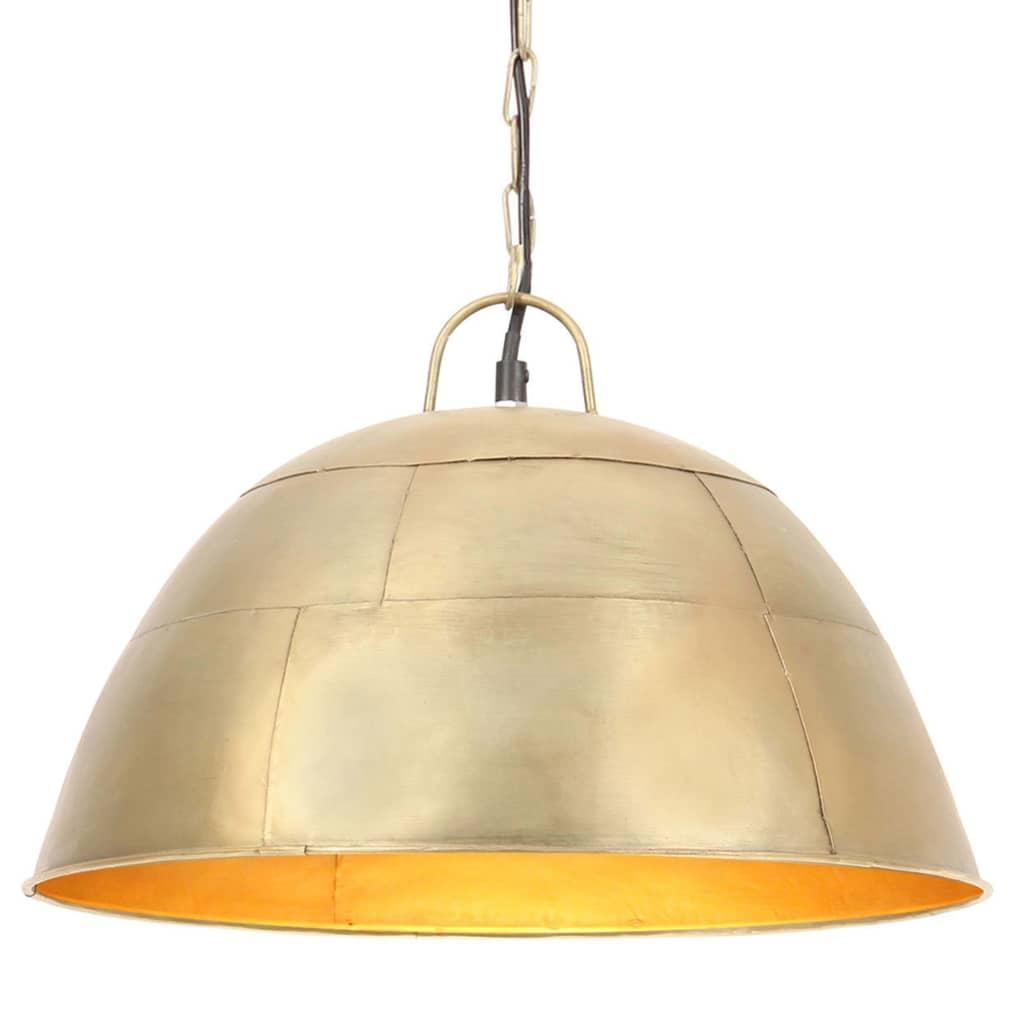 vidaXL Lustră industrială vintage, 25 W, 41 cm, alamă, rotund, E27 vidaxl.ro